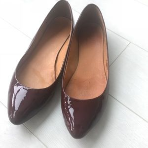 Madewell Sidewalk Skimmer Ruby Red Patent Leather